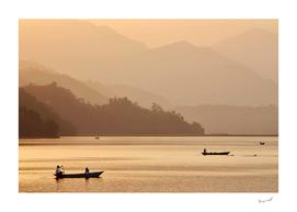Sunset on Phewa Lake