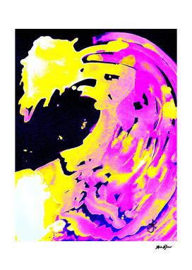 Neon Yellow Pink Solar Borealis