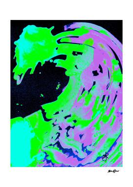 Neon Green Purple Solar Borealis