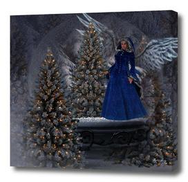 THE CHRISTMAS ANGEL SNOW  GLOBE