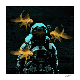 astronauts and goldfish
