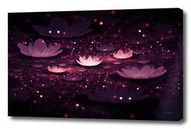Sparkle - Floral Field Fractal Art Print