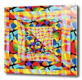 Candy Rainbow Geometric