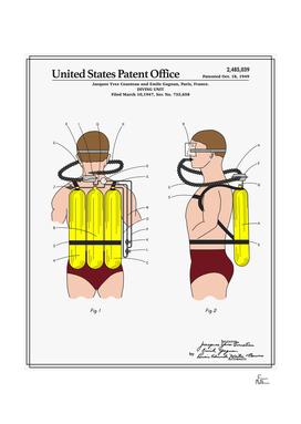Jacques Cousteau Diving Unit Patent