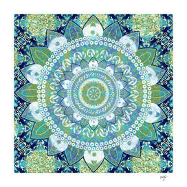 Batik Mint Mandala