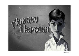 Audrey Hepburn - vintage movie card