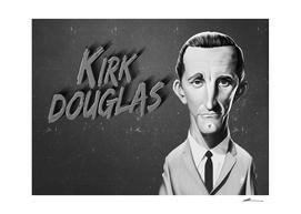 Kirk Douglas - vintage movie card
