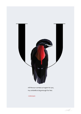 U for Umbrellabird