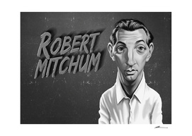 Robert Mitchum - vintage movie card
