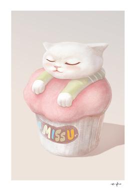 Cute Kitten Cupcake