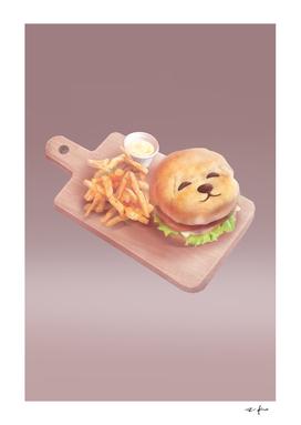 Smile Dog Burge and Fries