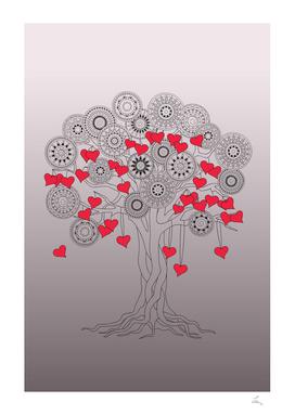 tree of love with mandalas