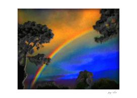 Early Morning Summer Rainbow