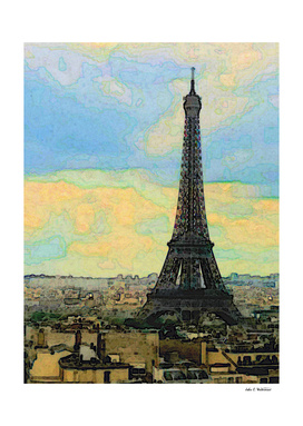 Watercolor Dream of Paris