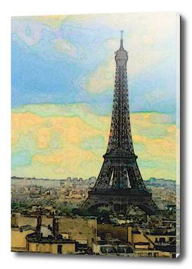 Watercolor Dream of Paris