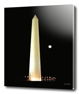 Washington Monument and Blue Moon