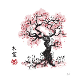 Forest Spirit sumi-e