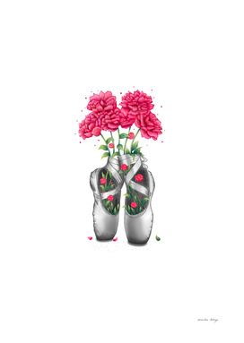 POINTE WITH PINK PEONIES