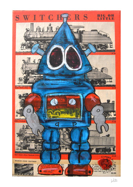 Vintage Blu Robot