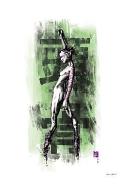 GreenSkull (Naked Ballerina No1)