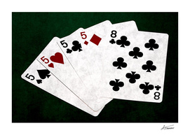 Poker Hands - Four Of A Kind Five Eight