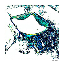 Wheelbarrow in Snow