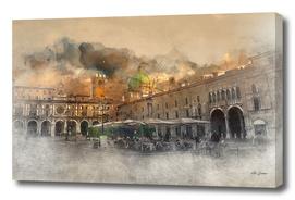 Italian city square