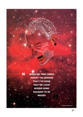 Linkin Park Chester Bennington Typography Poster