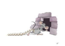 Mouse hiding his treasure