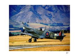 AVIATION ART - WORD WAR II SPITFIRE