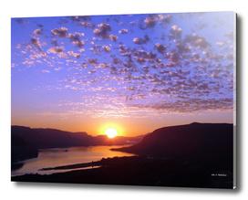 Sunrise on the Columbia Gorge