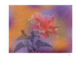 zen art and hibiscus