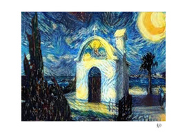 VAN GOGH-CALIA C1N2 - SMALL GREEK CHURCH AT NIGHT N1