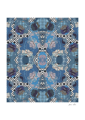 Blue Decorative Patchwork