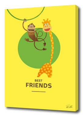 Best Friends – Monkey and Giraffe