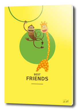 Best Friends – Monkey and Giraffe