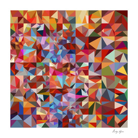 Multicolor polygonal mosaic background
