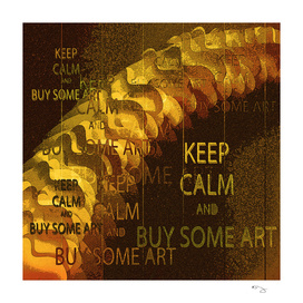 """KEEP CALM and BUY SOME ART""   Vintage 1920s posterized"