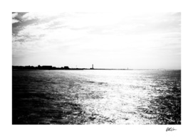 Fire Island Shoreline (B&W)