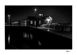 Saltaire Dock House at Night