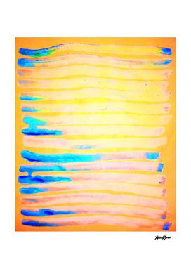 Orange Pantone Ocean Blue Lines