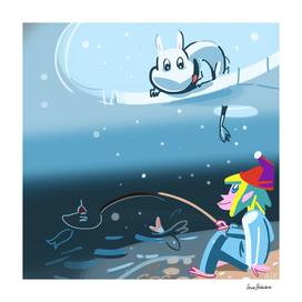 Under ice fishing