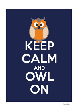 Keep calm and owl on
