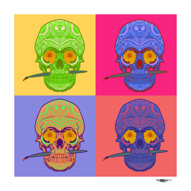 colored boxed skulls_artprint
