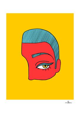 A piece of face