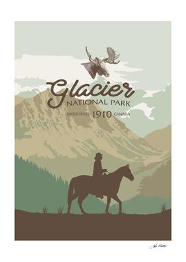 Glacier National Park Moose Head