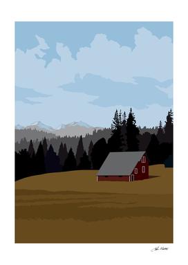 Idaho Barn Landscape