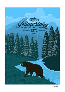 Yellowstone Bear Poster