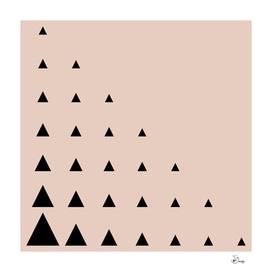 Black Triangles on Blush