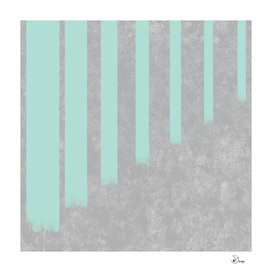 Soft cyan stripes on concrete